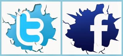 logo twitter y  facebook